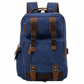 Shoulders Canvas Laptop Anti Theft Backpack Men Women Mochila Mujer Bagpack School Bags For Teenage Girls Backpacks - DISCOUNT ITEM  50% OFF All Category