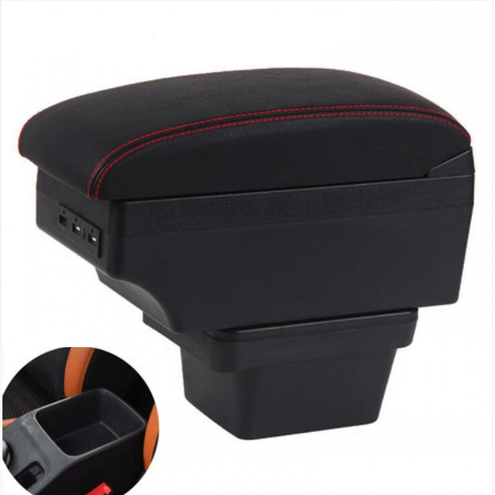 for Chery Tiggo 3X armrest box universal car center console modification accessories double raised with USB(China)