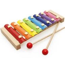 Деревянная музыкальная шкатулка ударные детские игрушки Деревянные