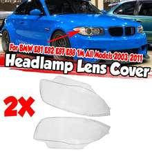 Nowy 2x E81 E82 samochodu przedni reflektor reflektor obudowa Case dla BMW E81 E82 E87 E88 1M 2003-2011 63116924668 63116924667 tanie tanio Reflektory CN (pochodzenie) none