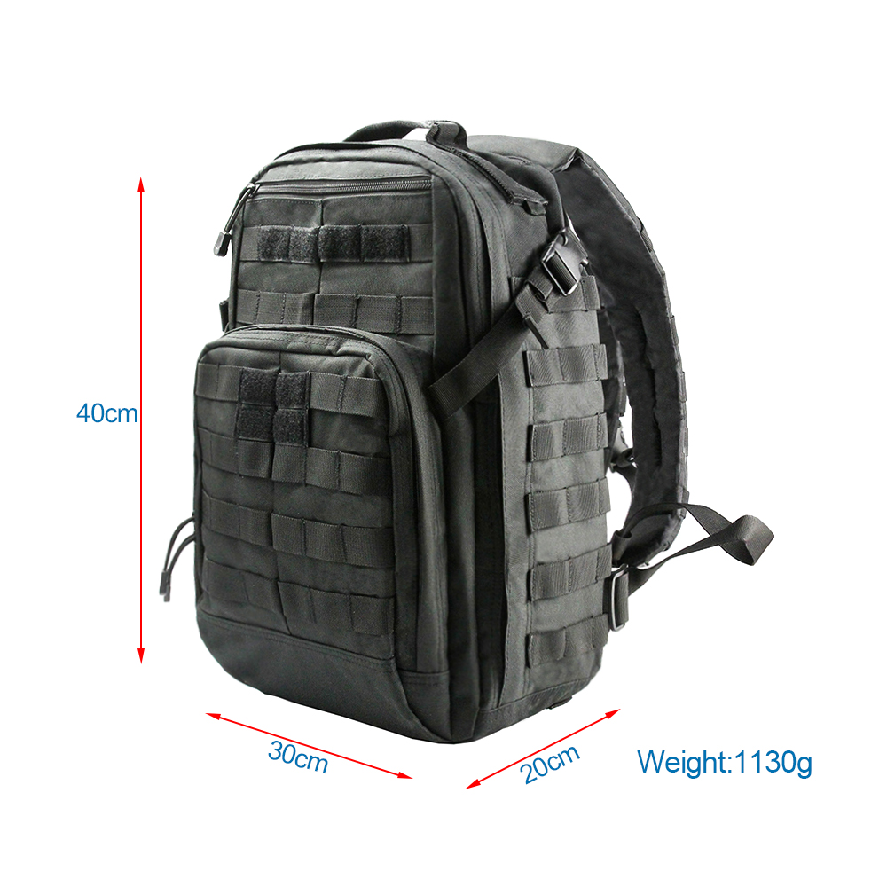 Tactical Climbing Backpack Rucksack Molle Military Bag 24L Nylon Outdoor Sports Bags Traveling Camping Hiking Hunting Backpack