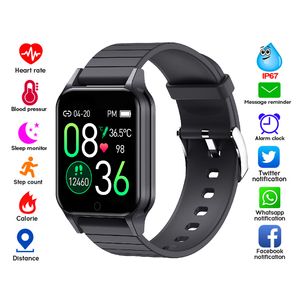 Image 2 - T96 temperatury ciała Smart Watch mężczyźni kobiety pulsometr pomiar ciśnienia krwi Bluetooth inteligentny dla Android IOS