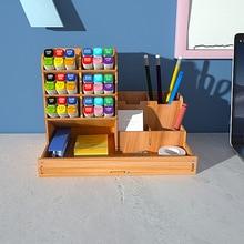 Multi-function Wooden Desktop Pen Holder Office School Stationery Storage Stand Case Desk Pen Pencil Organizer Storage Box
