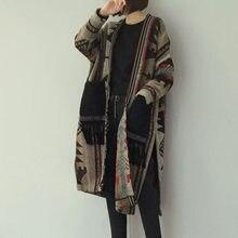 Manteau Long en laine pour femme, chaud d'hiver, élégant, coréen, dames, style Boho, mélange de glands, pull tricoté, Cardigan, pardessus, vêtements d'extérieur, automne