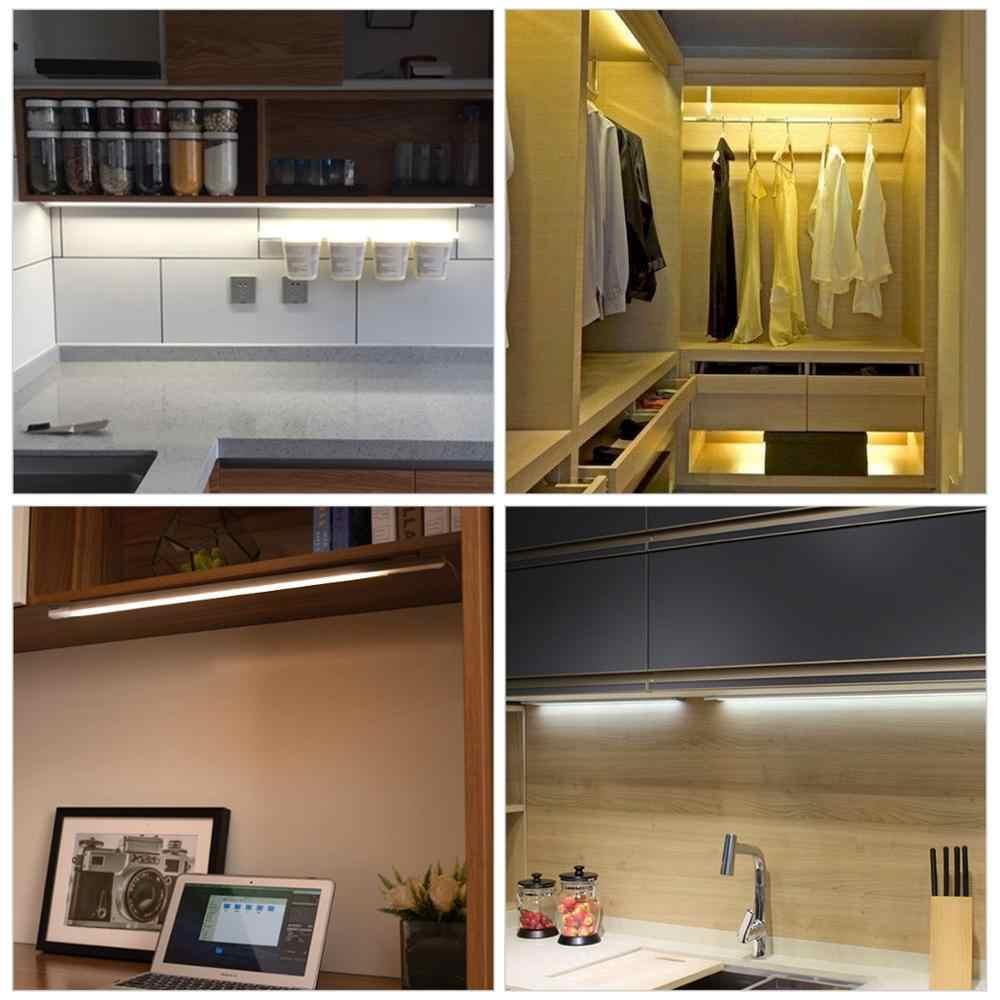 ホワイト/ウォーム/ナチュラル手スイープ Led キャビネットライトバーセンサーワードローブクローゼット壁キッチンランプ下家具ベッド装飾照明