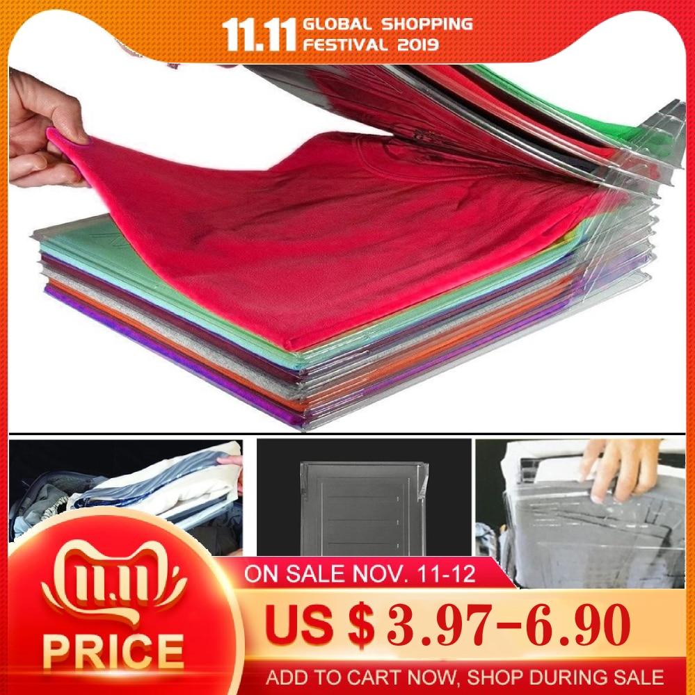 Dropshipping 5/10pcs Clothes Fold Board Closet Organizer And Shirt Folder Cabinet Helper Office Desk File Organizer