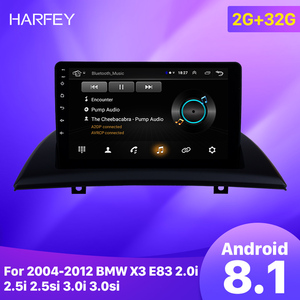 Harfey 2+32GB Android 8.1 9 inch Car GPS radio Player For 2004 2005 2007-2012 BMW X3 E83 2.0i 2.5i 2.5si 3.0i 3.0si 2.0d 3.0d