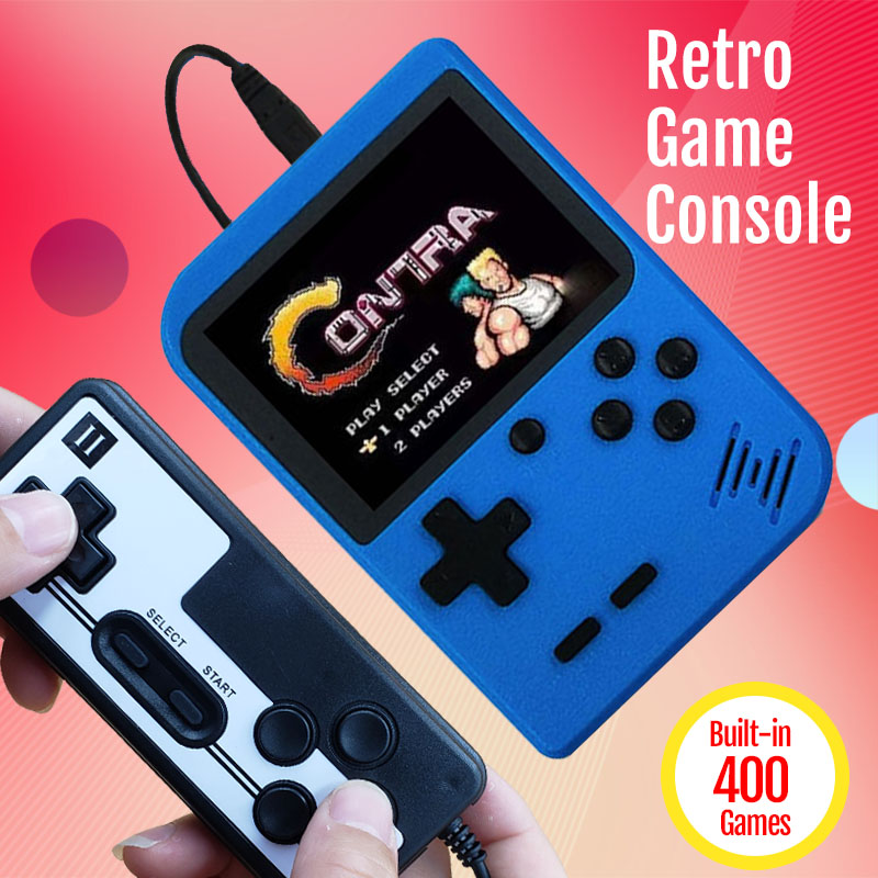 New 400 in 1 Games Console Retro Video Games 8 Bit Handheld Game Console With Controller Portable Mini Arcade Double Players