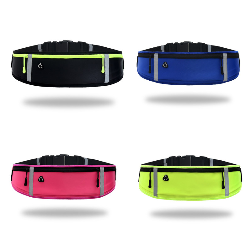 Waterproof Outdoor Running Bag Waist Belt Cycling Jogging Slimming Belt Phone Holder Anti-theft Fanny Pack For Sports Fitness
