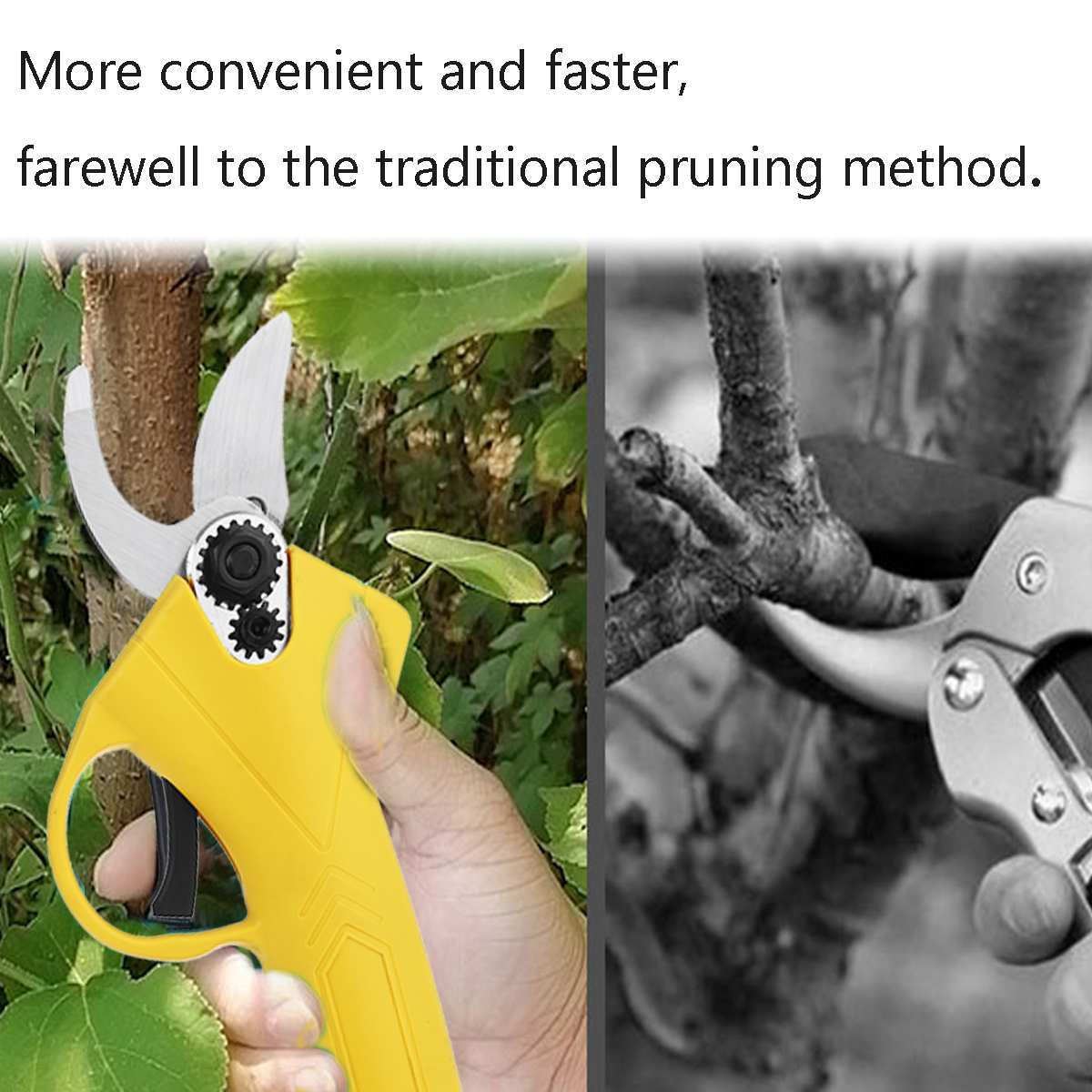 Tools : NEW 88V Cordless Pruner Lithium-ion Pruning Shear Efficient Fruit Tree Bonsai Pruning Electric Tree Branches Cutter Landscaping