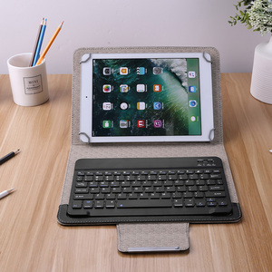 Practical Wireless Bluetooth Keyboard For Tablet For iOS Windows Android PU Leather Case Cover Stand for 9 10 inch Tablet