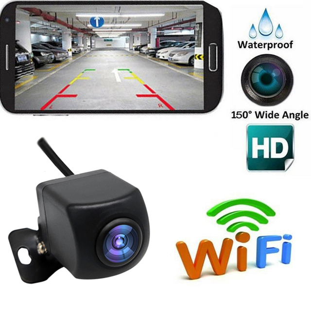 Wireless Backup Camera USB Cable HD WIFI Rear View Camera for Car, Vehicles, WiFi Backup Camera LCD Wireless Reversing Monitor