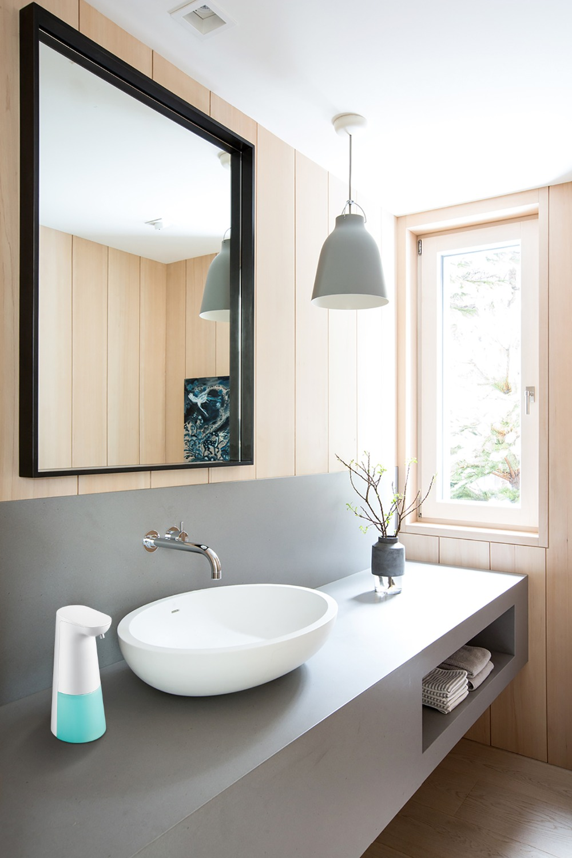 H174646a98e8d4644b4f171367a4ef7068 Automatic Foam Soap Dispenser Infrared Sensing Foam Soap Dispenser Induction Liquid Soap Dispenser For Bathroom Kitchen Hotel