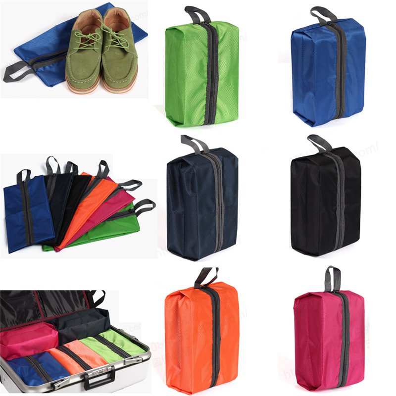 Portable Convenient Easy To Carry Waterproof Outdoor Travel Tote Shoes Laundry Pouch Zipper Storage Bag Organizer
