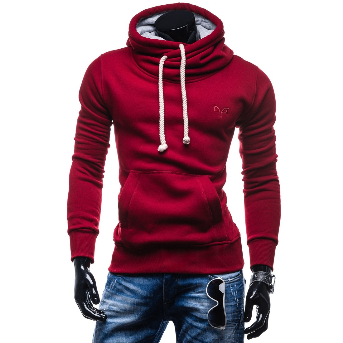 ZOGAA Spring Autumn Hoodies Men Fashion Brand Pullover Solid Color Turtleneck Sportswear Sweatshirt Men'S Tracksuits hoodies