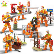 217 шт город спасательный пожарный грузовик куклы строительные