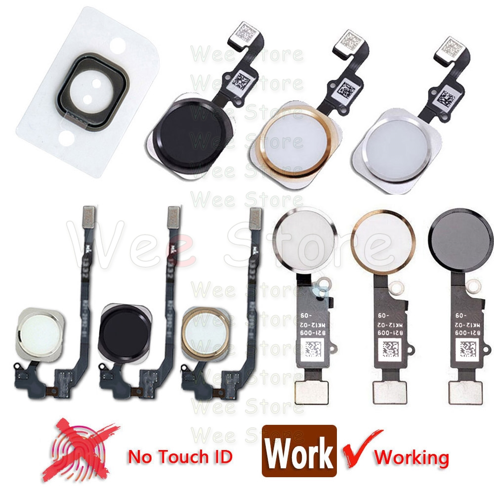 Home Button With Flex Cable For IPhone  6s 6 7 8 Plus 5s SE 6G 6Plus Return Key Back Home-Button Flex Assembly No Touch ID