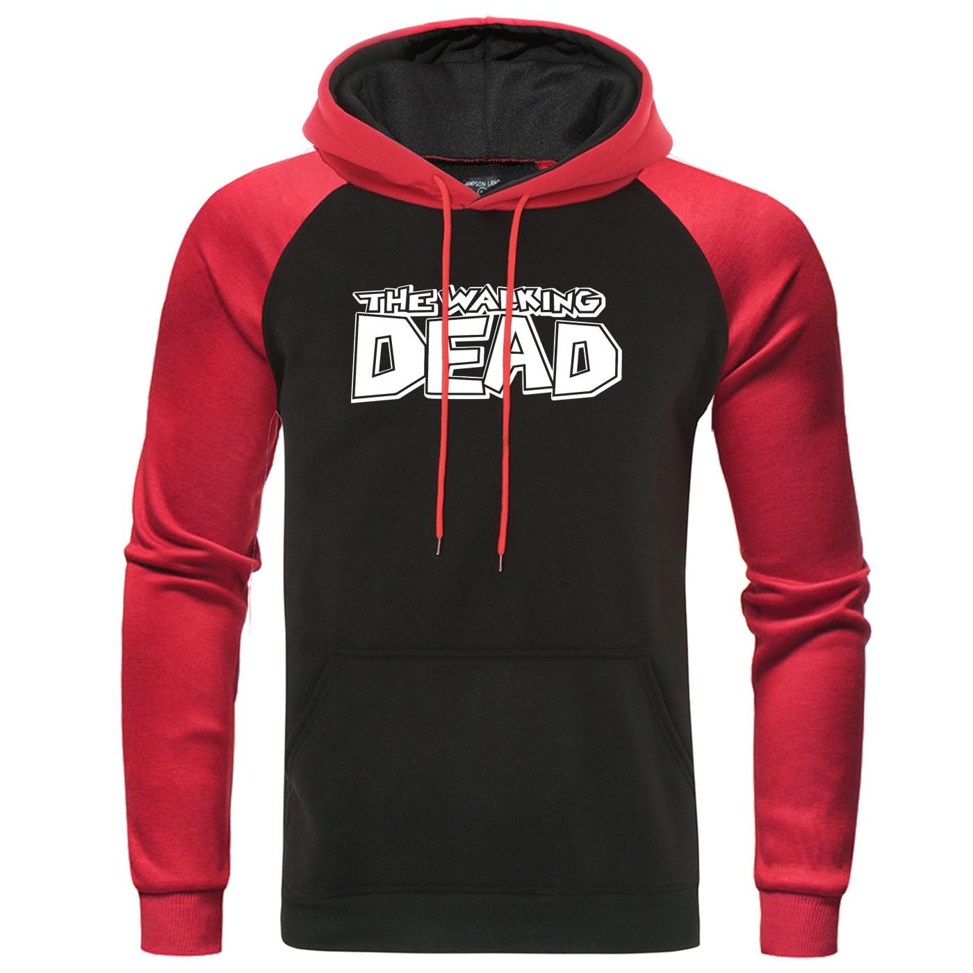The Walking Dead Print Hoodies 2019 Autumn Winter Mens Raglan Hooded Sweatshirt Fashion Casual Men Pullover Harajuku Streetwear