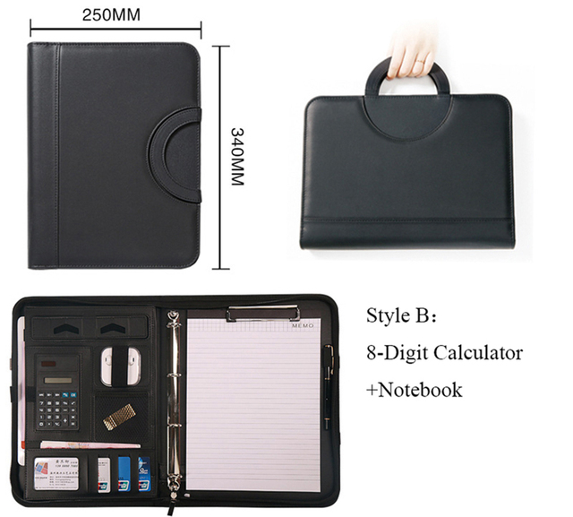 Business Accessories & Gadgets Office Accessories Portable File Folder with Calculator