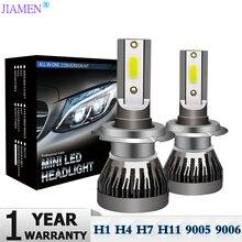 2PCS Car Headlight H4 LED H7 H1 H11 H3 H13 H27 880 9006 9007 72W 12000LM 6000K 12V 24V Auto Headlamp COB Fog Light Bulb
