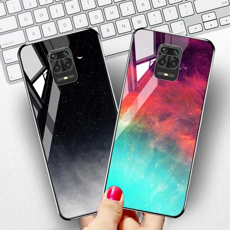 Tempered Glass Case For Xiaomi Redmi Note 9 Pro Cases Xiomi Poco F2 Pro Mi Note 10 Lite 9T A3 9s 9C 9A 8 SE 8T 8A 7 7A SE Cover(China)