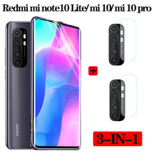3in1,Hydrogel Film For Xiaomi Mi Note 10 Lite Mi Note 10 Pro Mi10 Screen Protector Camera Lens Glass Xaomi Mi Note10 10pro Film