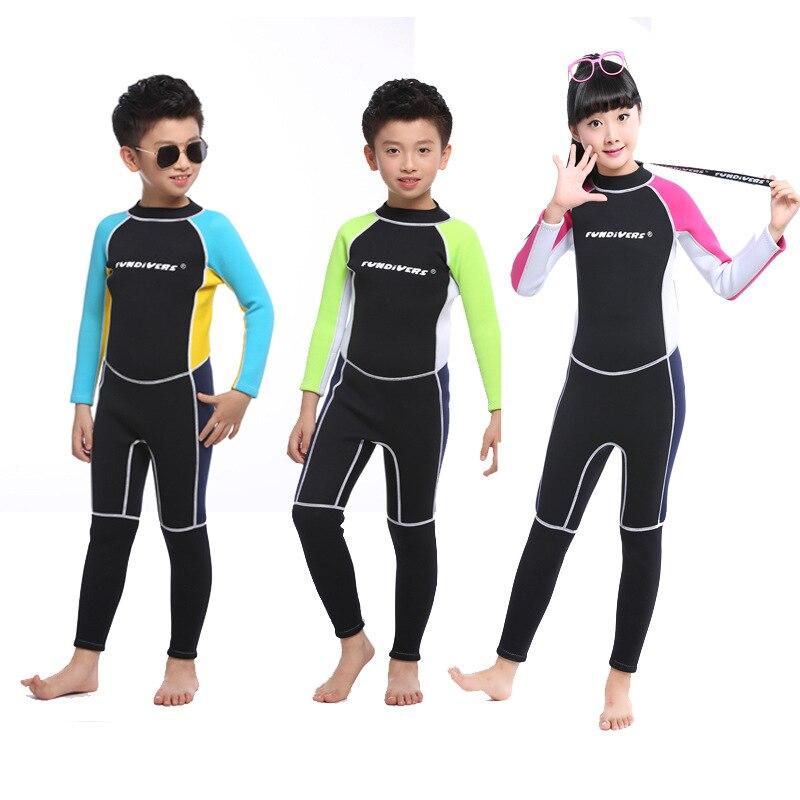 3MM néoprène garçons combinaisons thermiques corps complet enfants Anti-UV garder au chaud plongée costumes surf maillot de bain costume pour les enfants