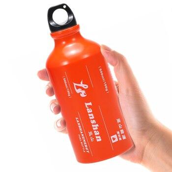 500ml Gasoline Fuel Bottle Petrol Kerosene Alcohol Liquid Gas Tank Fuel Storage Bottle for Outdoor Camping Multi Fuel Oil Stove цена 2017