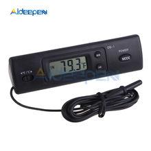 Cyfrowy kryty odkryty DS-1 pojazd domowy termometr samochodowy wyświetlacz LCD wyświetlacz na zewnątrz zegar na samochód termometr do akwarium