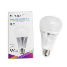 Milight YB1 Dimmable 9W RGB+CCT Wifi Led Bulb 2.4G Wireless Led Lamp 2700K-6500K 2 in 1 Smart Led Light AC100V-240V