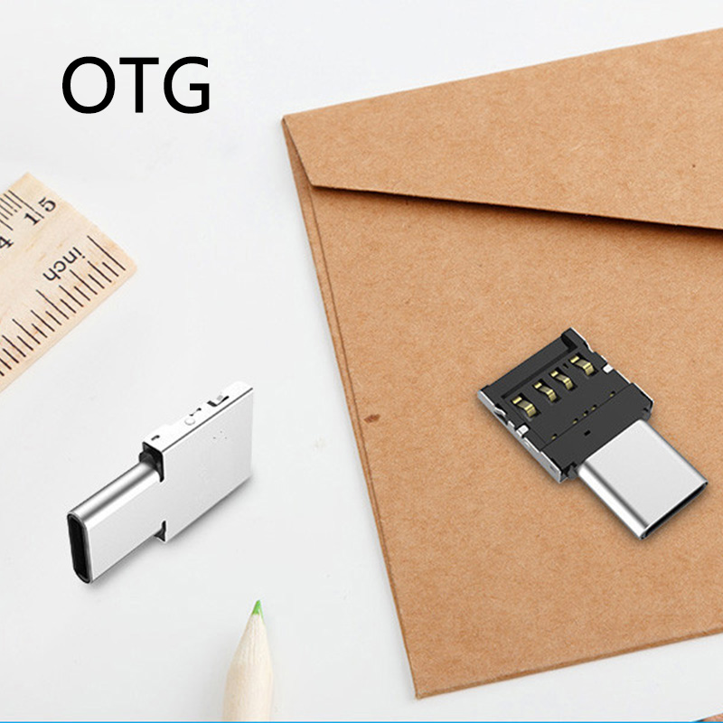 Mini Micro Usb OTG Type C To USB Jack Adapter Phone Connect External Devices Converter U-disk Data Transmission For MacBook