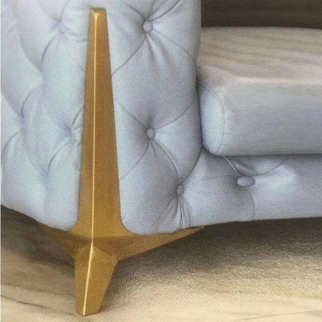15cm Gold furniture legs metal Heavy duty support leg bracket for table Sofa cabinet Chair feet corner protector Furniture Parts