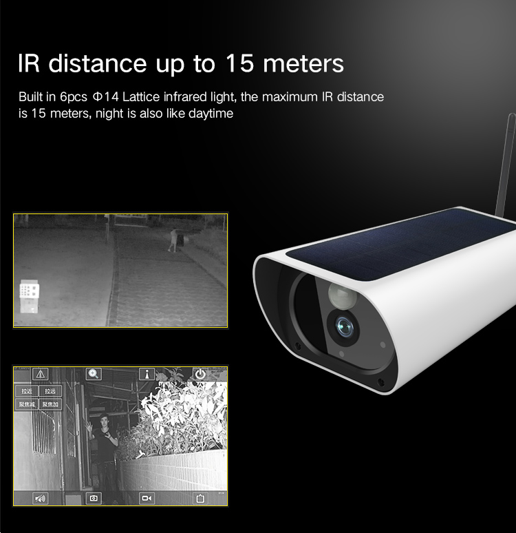 Image 3 - Free Shipping 2MP Solar Power Camera 4G SIM Card IP Bullet Camera Rechargeable 4G Outdoor CCTV camera with 1080P Wifi Camera-in Surveillance Cameras from Security & Protection
