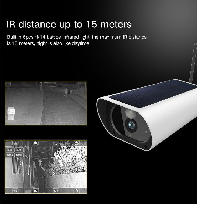 Gratis Verzending 2MP Zonne energie Camera 4G Sim kaart IP Bullet Camera Oplaadbare 4G Outdoor CCTV camera met 1080P Wifi Camera - 3