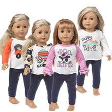 2020 novo 4 estilo escolher apto para a menina americana boneca roupas de 18 polegadas, presente da menina de natal (apenas vender roupas)