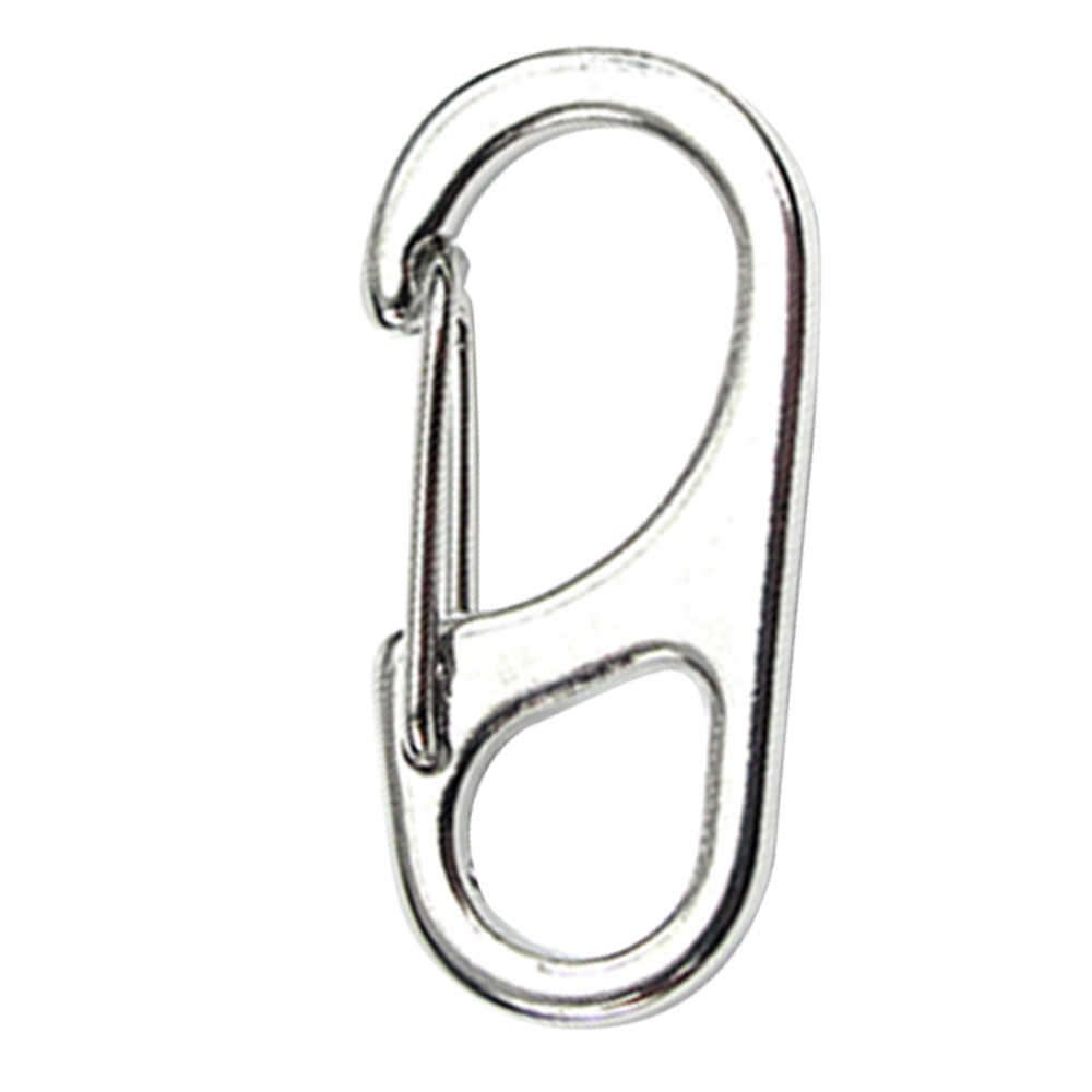 Mini D Shaped Carabiner Buckle Hook Zinic Alloy Camping Tool Multifunction