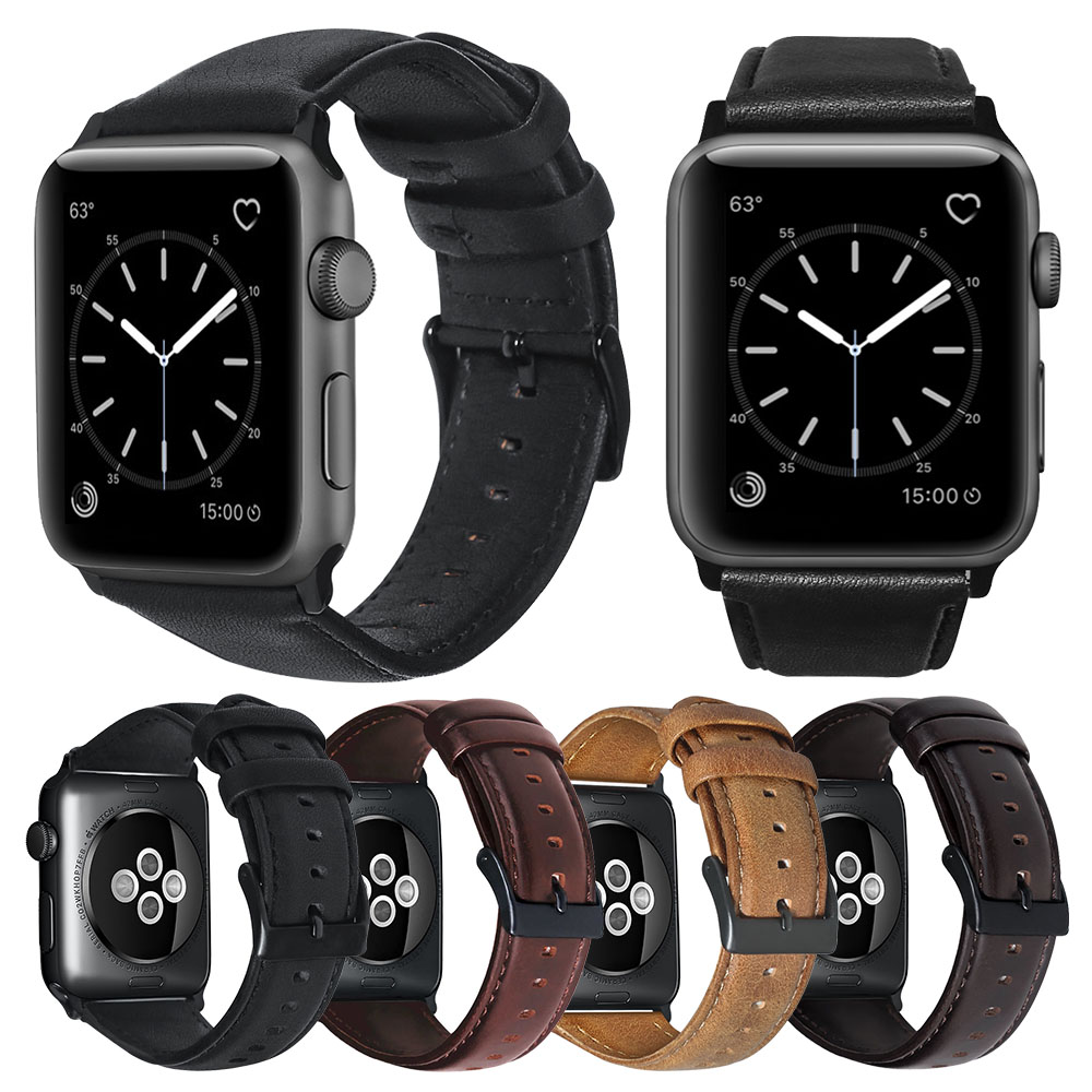 Watch Accessories Genuine Leather For Apple Watch Band 44mm 40mm Apple Watch Bands 42mm 38mm iWatch Series 5 4 3 2 1 Watch Strap