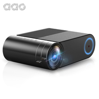 AAO YG420 Mini Projector Native 720P Portable Video WIFI Beamer LED Proyector for 1080P Multi Screen Smartphone YG421 Projector