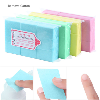 1 pack Gel Polish Remover Pad Nail Wipes Cleaning Lint Free Paper Pad Soak off Remover Manicure Cotton Napkins Wrap Tool