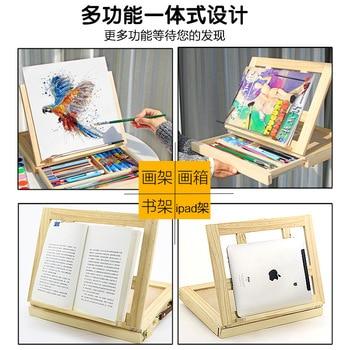 Filete De Escritorio Portátil Caballete En Caja Accesorios De Hardware De Pintura Multifuncional Maletín De Pinturas Suministros De Arte Artista