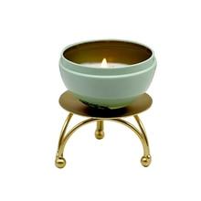 Portavelas de hierro dorado Vintage, portavelas de Pilar, plato de vela, mesa, candelabro redondo, soporte de vela de Pedestal para decoración del hogar