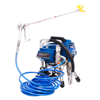 High Pressure Airless Paint Sprayer Machine H690 Electric Painting Equipment 2200W with 0.017(0.43mm)Nozzle DIY Decoration Tool