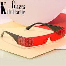 2020 Fashion Rectangle Sunglasses Women Men Vintage Small Su