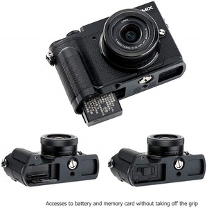 Image 5 - Hand Grip Quick Release Plate L Bracket Tripod Holder For Panasonic GX9 GX7 Mark II III GX7M3 GX7M2 GX85 GX80 Replace DMW HGR2