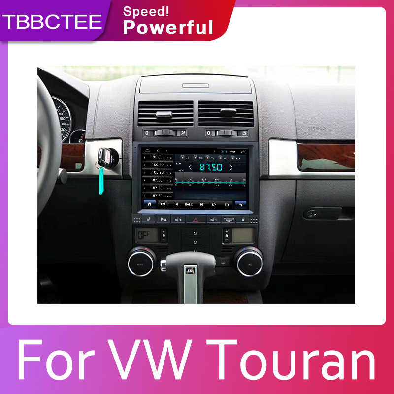 Reproductor Multimedia para coche Android 9,1 2 + 32G para Volkswagen VW Touran Touareg 2003 ~ 2011, Radio BT 3G 4G WIFI AUX USB Navi