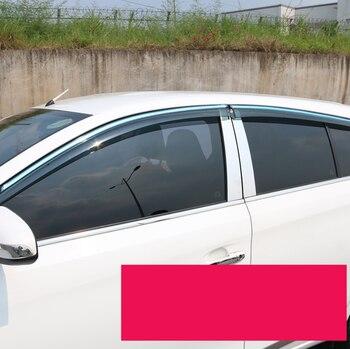 Acrylic car window rain shield for toyota vios yaris sedan 2013 2014 2015 2016 2017 2018 2019 xp150