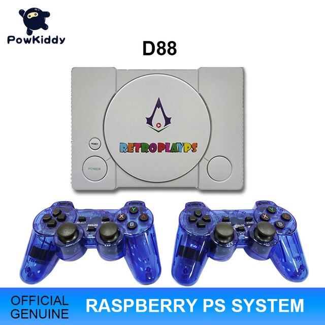 Powkiddy D88 hdmiラズベリーパイ30シミュレータレトロゲーム3D新ゲーム7000ゲームでエージェントbulitダブルゲームパッド