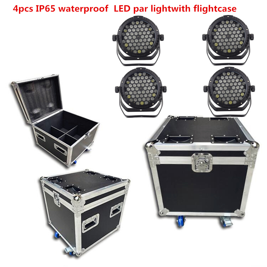 4X IP65 waterproof 54x6W led Par Light with flightcase RGBW RGB 3in1 Windmill warm white led par Outdoor professional stage|Stage Lighting Effect| |  - title=