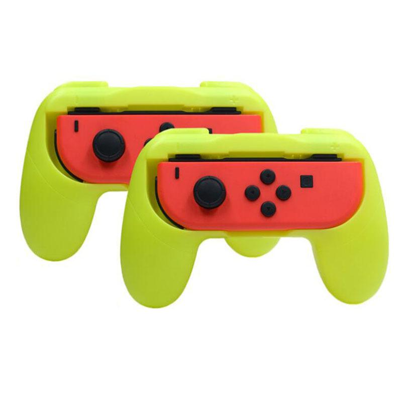 MeterMall 2Pcs Plastic Anti-skid Handle Anti-Collision Handgrip Brackets Protective Shell For Nintendo Switch Joycon Controllers