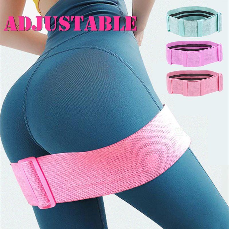Adjustable Elastic Hip Booty Bands Anti Slip Resistance Bands Thick With Inner Grip Strip For Fitness Legs Butt Glute Workout